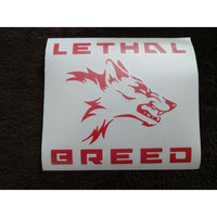 LETHAL BREED BADASS RED KISS CUT DECAL