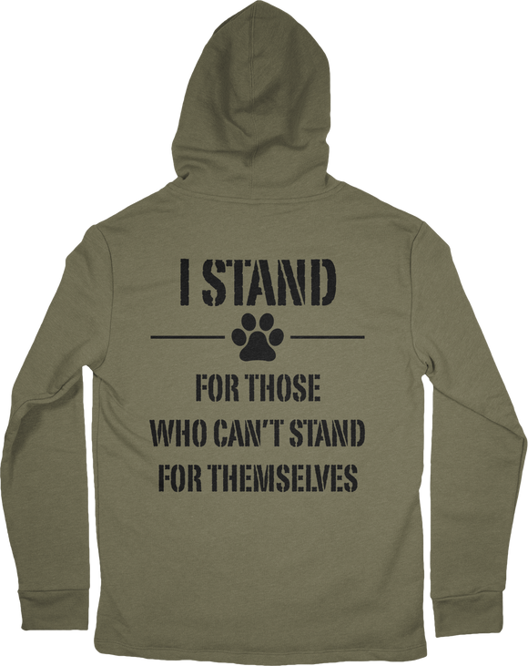 I STAND RESCUE PULLOVER OD HOODIE
