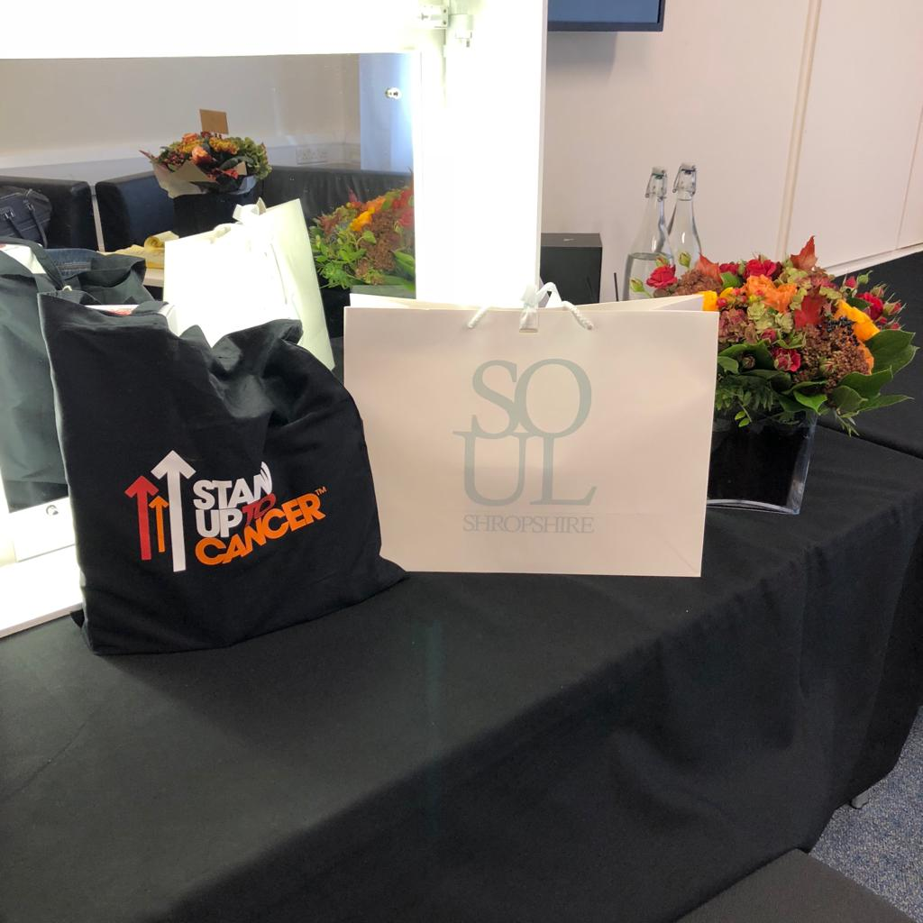 When you sponsor the goodie bags for; Stand Up 2 Cancer live show