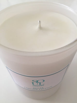 New Relax 30cl Limited Edition white matt candle