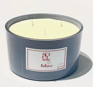 Believe Limited Edition Grey 3 Wick Candle (small)
