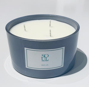 Relax Limited Edition Grey 3 Wick Candle (small)