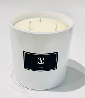 Zen Limited Edition White 3 Wick Candle (large)