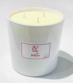 Believe Limited Edition White 3 Wick Candle (large)