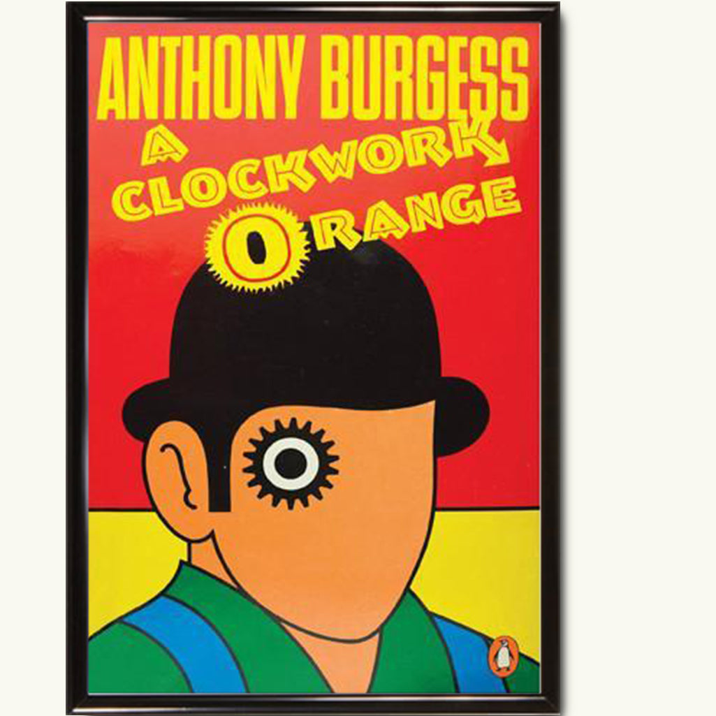 Old Book Cover Posters : A clockwork orange vintage book cover poster the