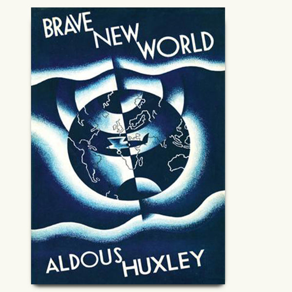 Brave New World vintage book cover poster