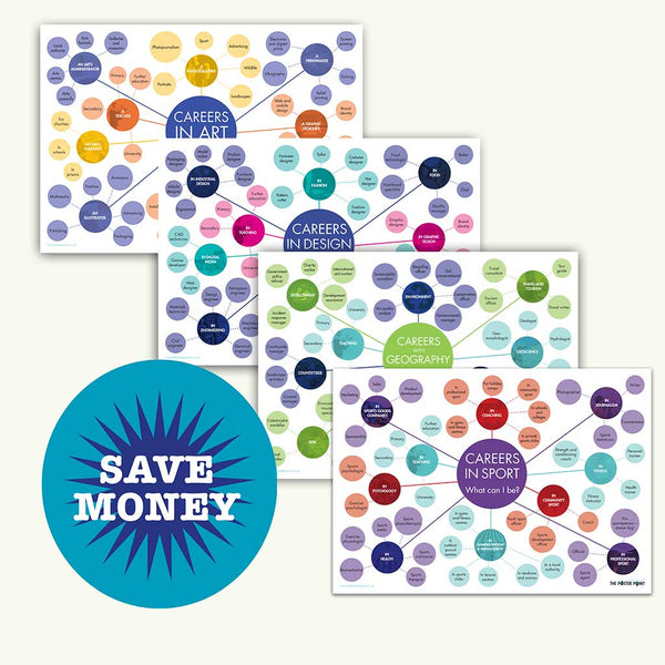 Careers posters bundle of 4 to save money