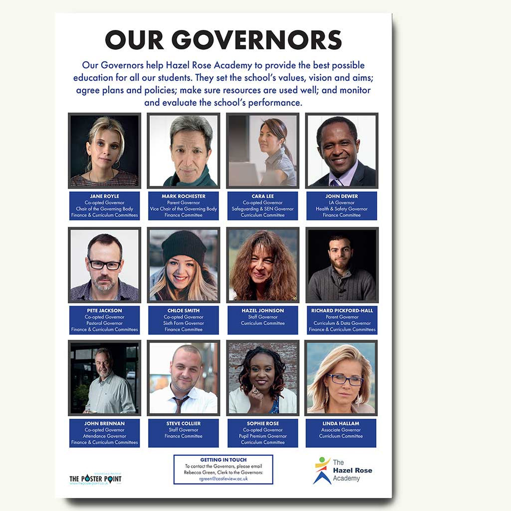 Who's who custom poster 12 governors blue