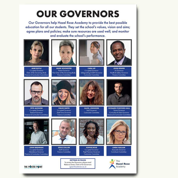 Custom governors poster in blue
