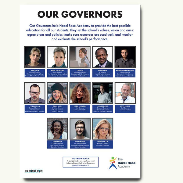 Who's who 13 governors poster blue