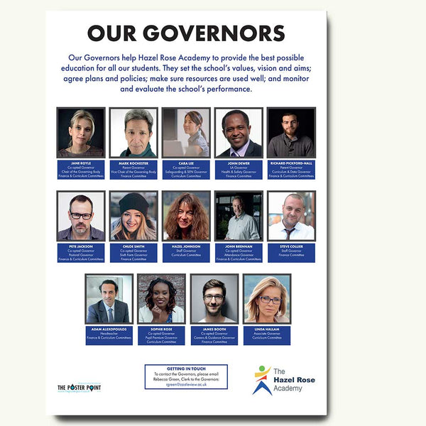 Custom who's who poster for 14 governors blue