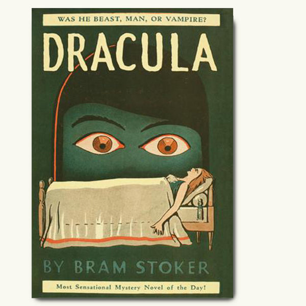Dracula vintage book cover A1 poster