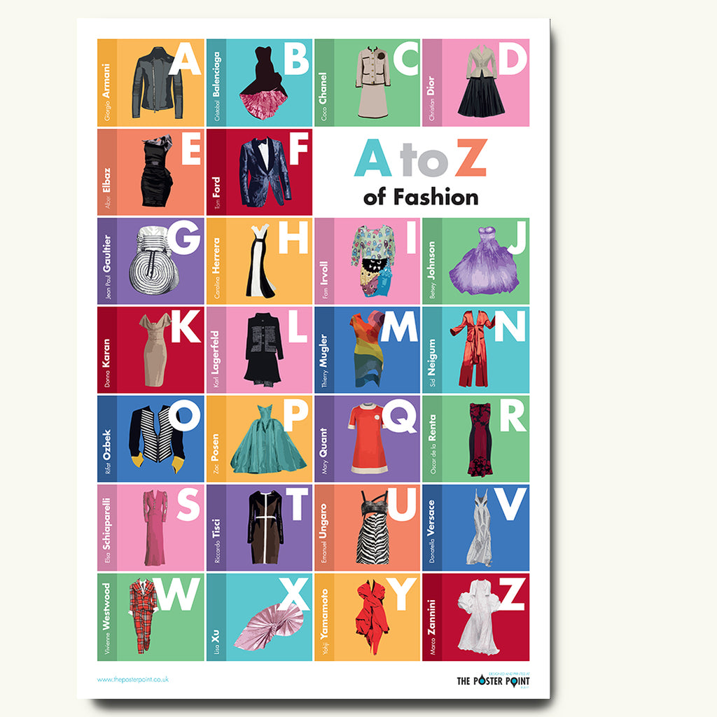 Fashion designers poster