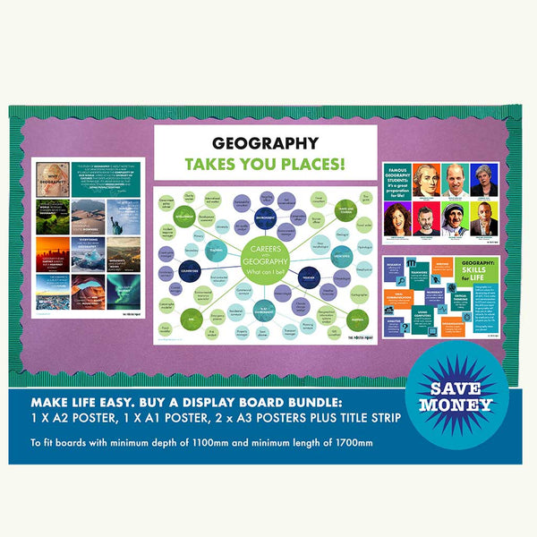 Geography careers classroom display