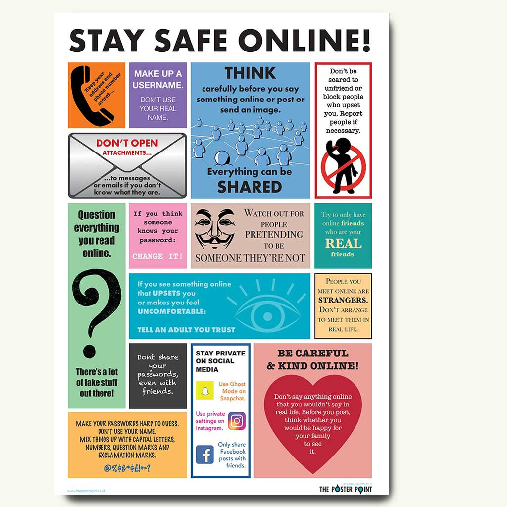 Internet safety poster