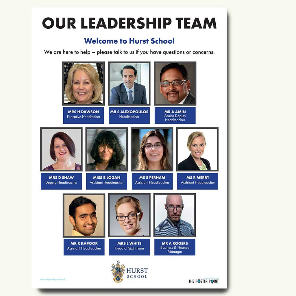 Leadership poster for 10 in blue