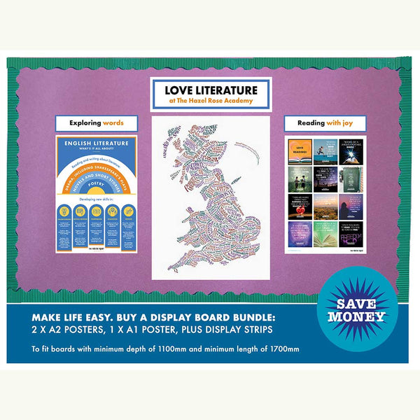 Love Literature display board bundle