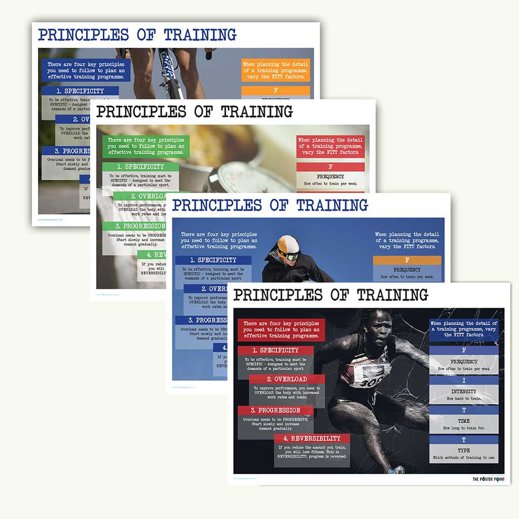 Principles of training bundle of posters