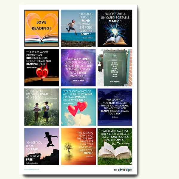 Reading quotes poster