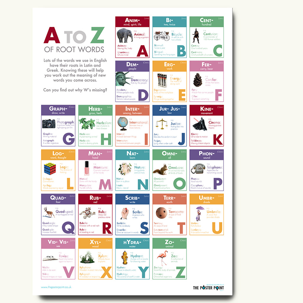 Root words poster