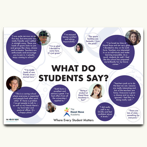 Student views poster