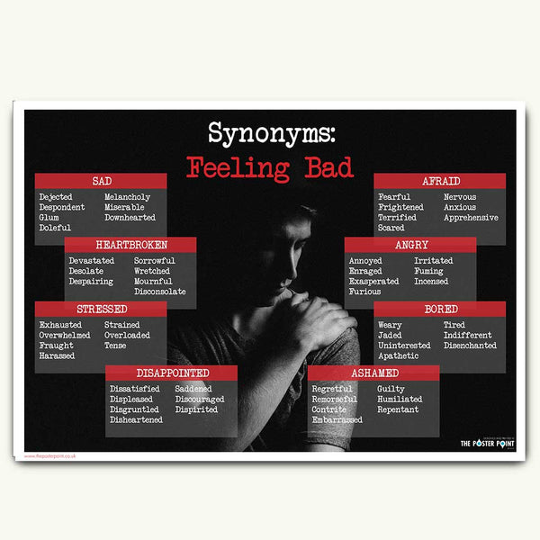 Synonym for sad poster