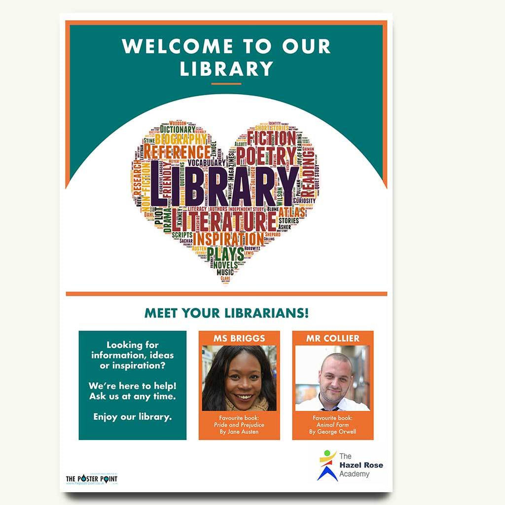 Welcome to the library for two members of staff
