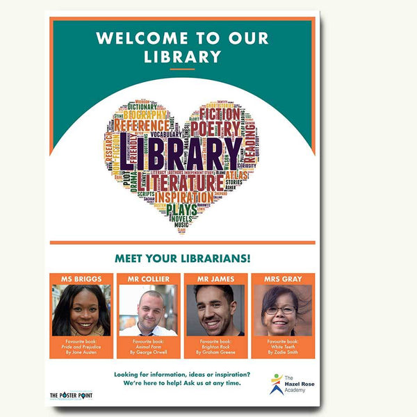 Welcome to the library for 4 members of staff