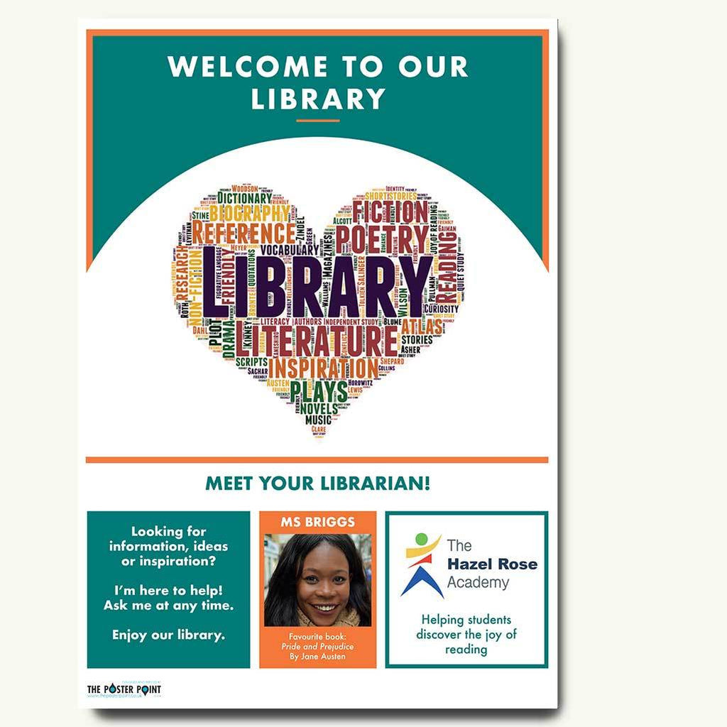 Welcome to the library poster for 1