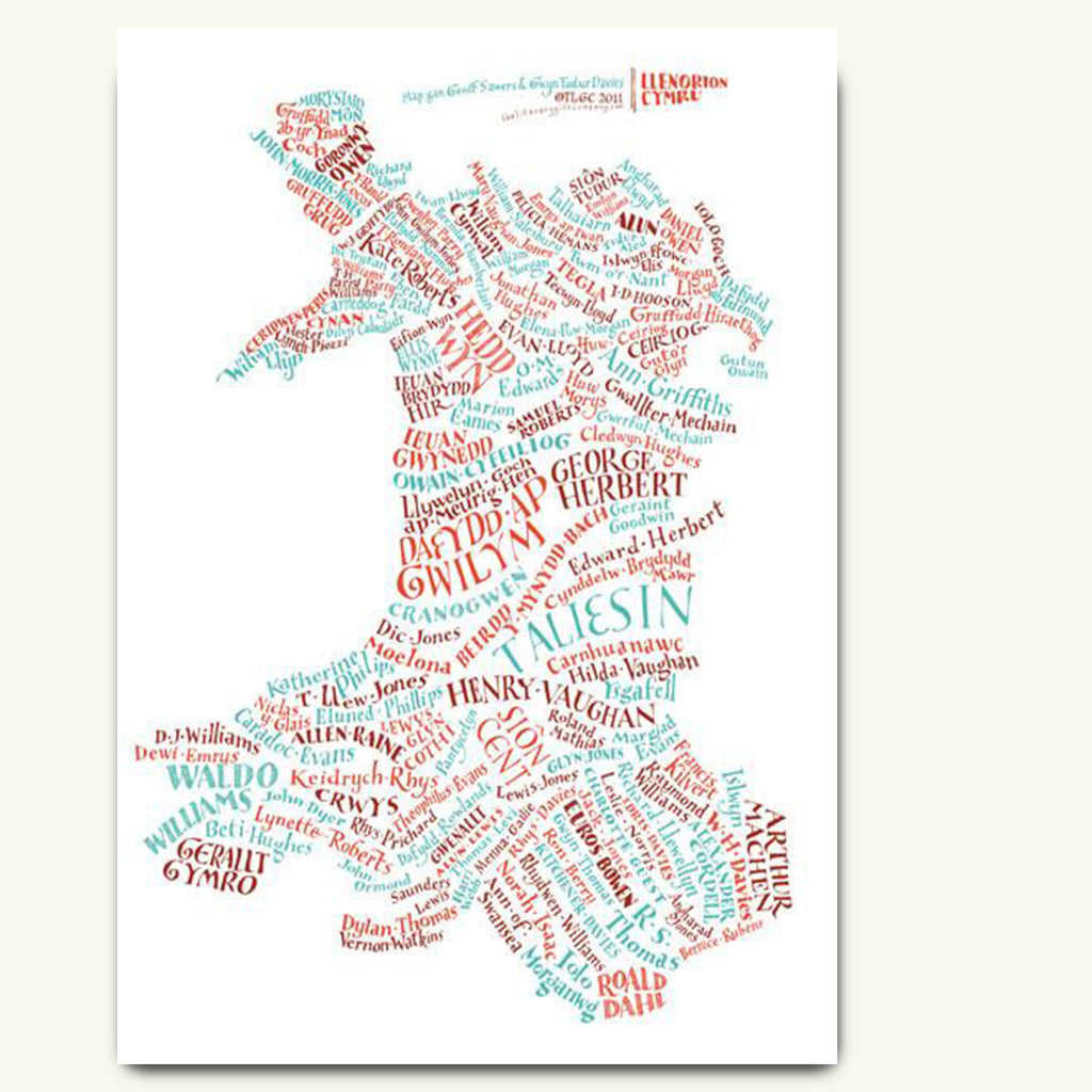 Welsh authors poster