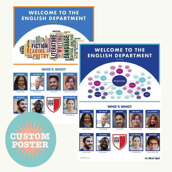 Who's Who English department custom poster