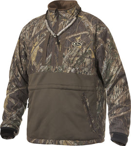Drake Waterfowl Systems Eqwader 1/4 Zip Jacket  LST Heavy Weight Shadow Branch Camo -Medium