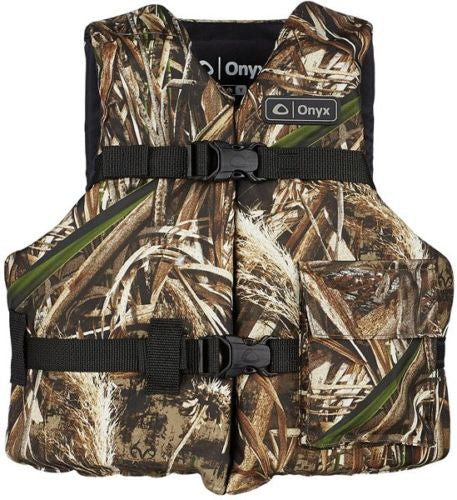 AO Onyx Outdoor Realtree Max-5 Camo Youth Life Jacket Vest for kids