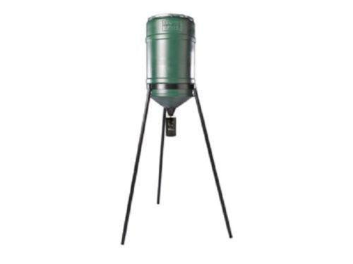 On-Time Wildlife Automatic Feeder with 225 lb Capactiy Barrel and Tripod Combo 71237