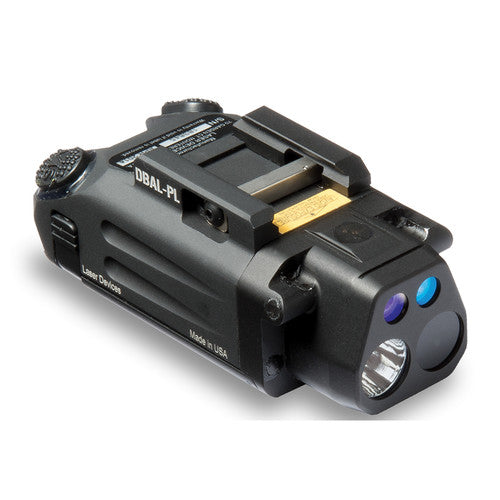 Steiner DBAL-PL Visible/IR Weaponlight with Green/IR Aiming Lasers (Matte Black)