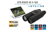 BinoX 4K 4-16x65 Smart Day/Night Binocular w/Laser Rangefinder
