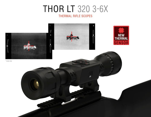 ATN ThOR LT 320, 3-6x Thermal Rifle Scope