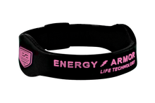 Black Negative Ion Superband with Pink Letters