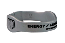 Silver Negative Ion Superband with Black Letters
