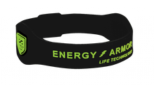 Black Negative Ion Superband with Lime Green Letters