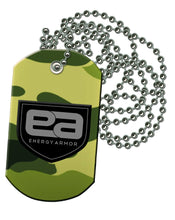 Energy Armor Black Negative Ion Pendant Dog Tag