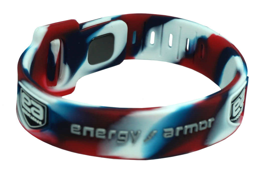 Red White Blue Adjustable Evolution Bracelet with FIR Technology