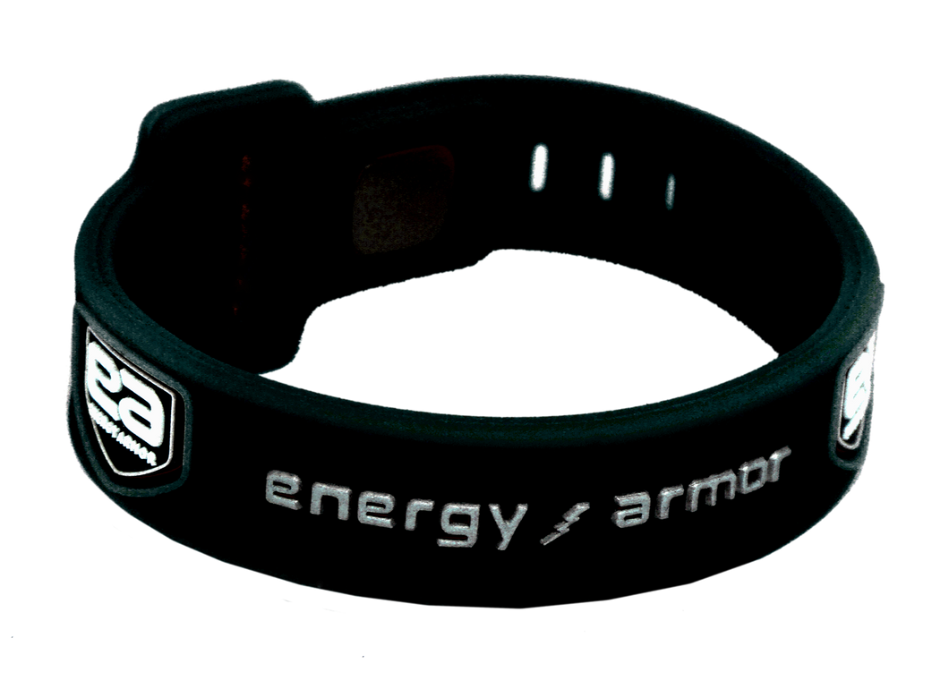 Black Silver Adjustable Evolution Bracelet with FIR Technology