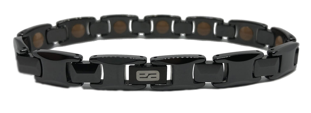 Black  Ceramic  bracelet  Scratch resistant-  MOST POWERFUL- with FIR Technology  -
