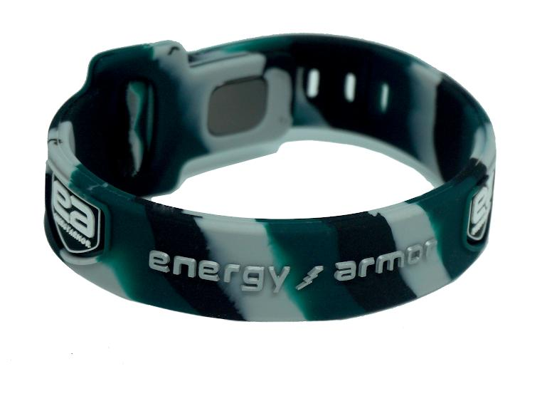 Green Camo Adjustable Evolution Bracelet with FIR Technology