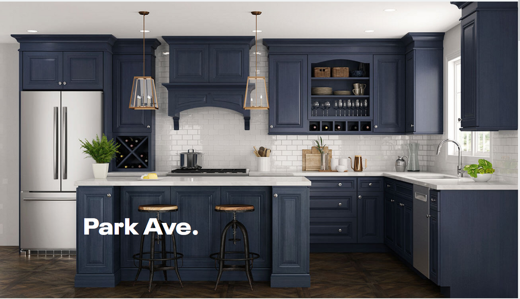Ordering Blue Kitchen Cabinets Rta Wood Cabinets