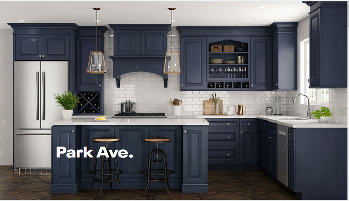 Ordering Blue Kitchen Cabinets