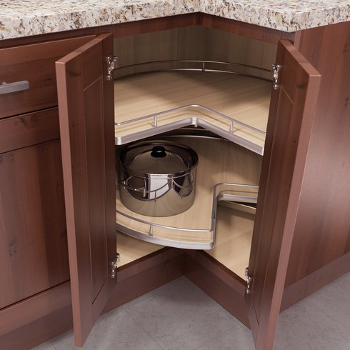 Make The Best Use Of A Corner In A Kitchen Layout Rta Wood Cabinets