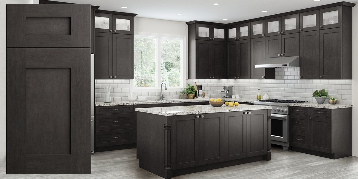 Elegant Smokey Gray Assembled Kitchen Cabinets Rta Wood Cabinets