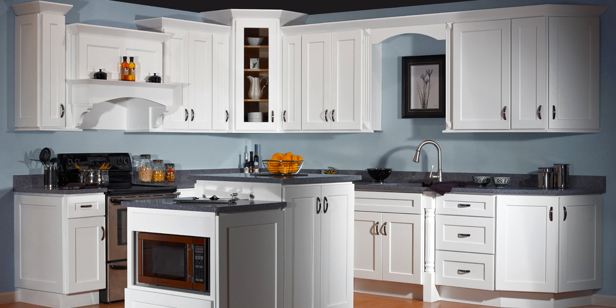 the best attitude 27eb5 41f40 Essex White Shaker Panel RTA Kitchen Cabinets - RTA Wood ...